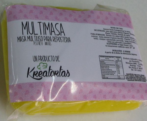 Fondant Multimasa Amarillo 100g